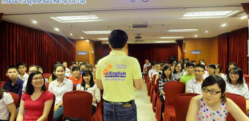 Hội trường đào tạo của IZI English tại 25T2 Hoàng Đạo Thúy