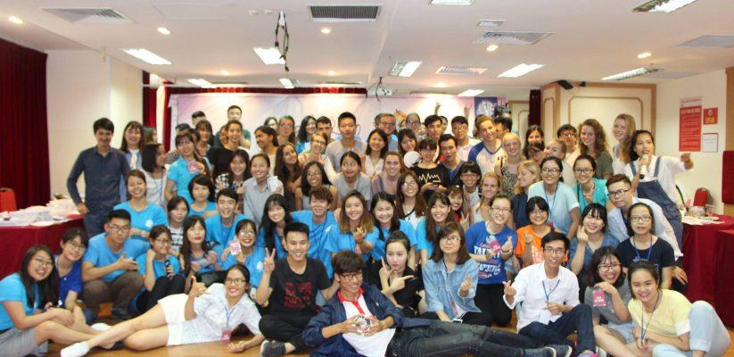 Hội trường tổ chức lễ hội ẩm thực ICYE Việt Nam