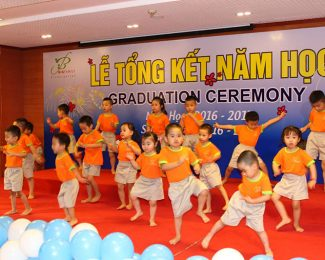 Hội trường diễn ra lễ tổng kết trường Big Family Kindergarten
