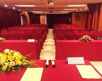 Hội trường tổ chức họp đại hội cổ đông