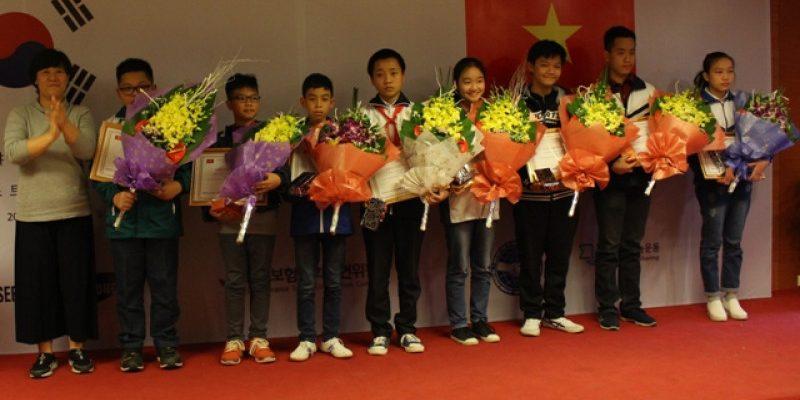 Hội trường tổ chức lễ trao giải cuộc thi tin học 2017