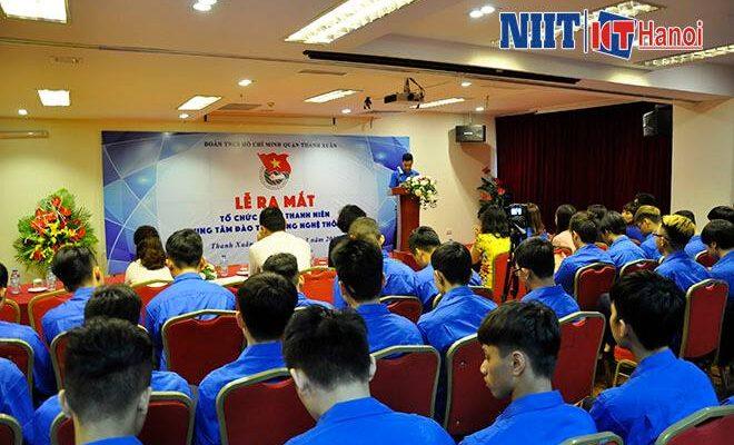 Hội trường lễ ra mắt tổ chức Đoàn Thanh Niên của trung tâm NIIT-ICT Hà Nội