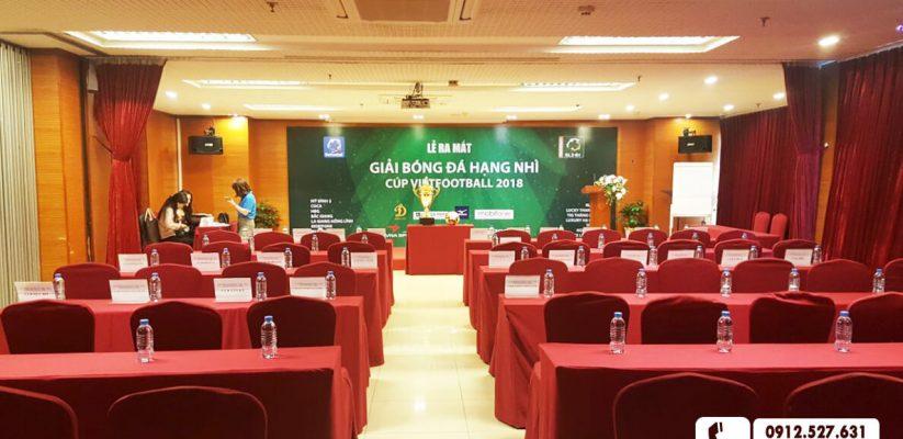 Hội trường tổ chức Lễ ra mắt giải bóng đá hạng nhì – Vietfootball