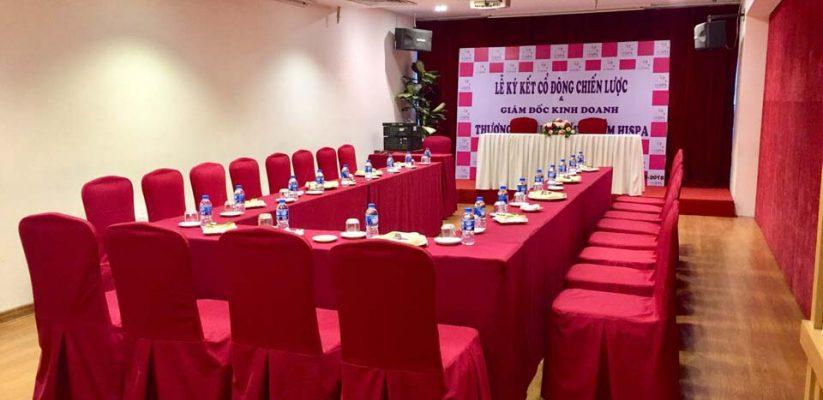Lễ ký kết cổ đông chiến lược thương hiệu dược mỹ phẩm Hispa tại hội trường VITD