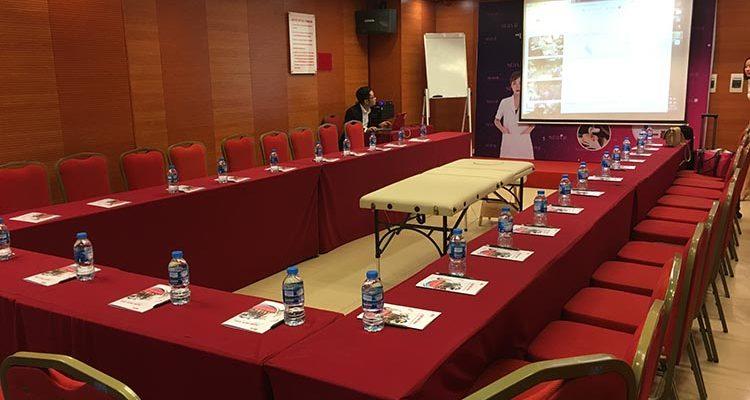 """Hội thảo """"Ứng dụng công nghệ phi kim MTS trong điều trị da"""" tại hội trường VITD"""