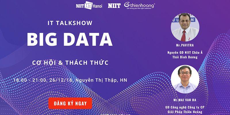 [NIIT – ICT Hà Nội] Tọa đàm Big Data – Cơ hội và thách thức (26/12)
