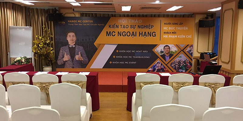 Hội thảo kiến tạo sự nghiệp MC ngoại hạng tại hội trường VITD