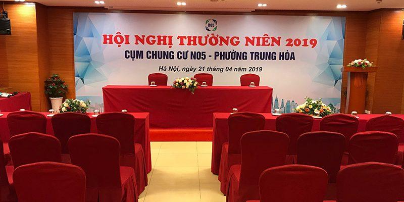 Hội nghị thường niên năm 2019 cụm dân cư  N05 tại hội trường tầng 3 tòa nhà 25T2